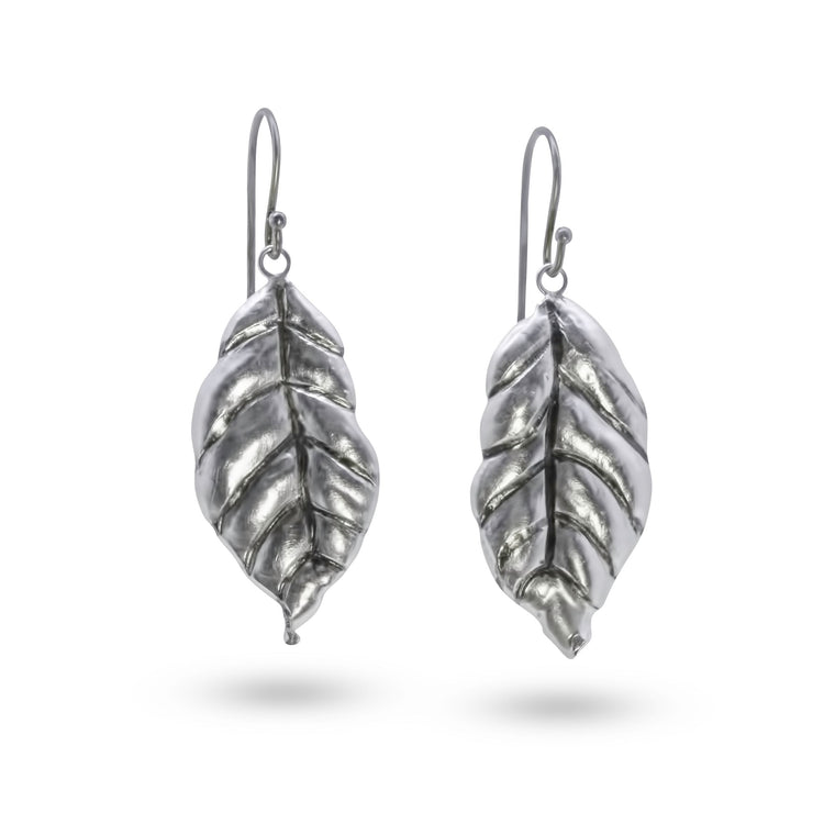 Leaf Earrings - Nancy Troske Jewelry