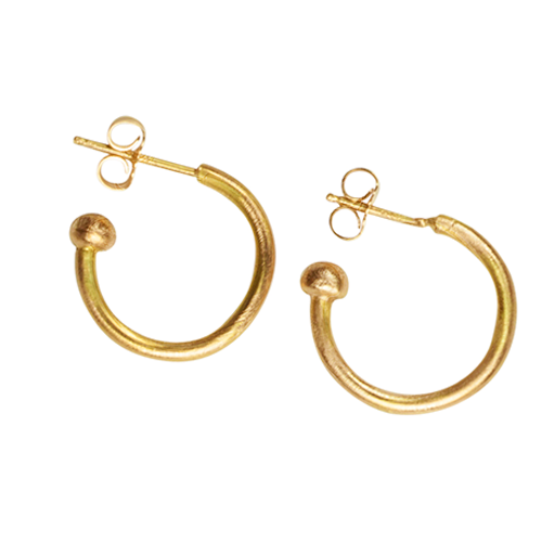 Ruby hoop earrings - Nancy Troske Jewelry