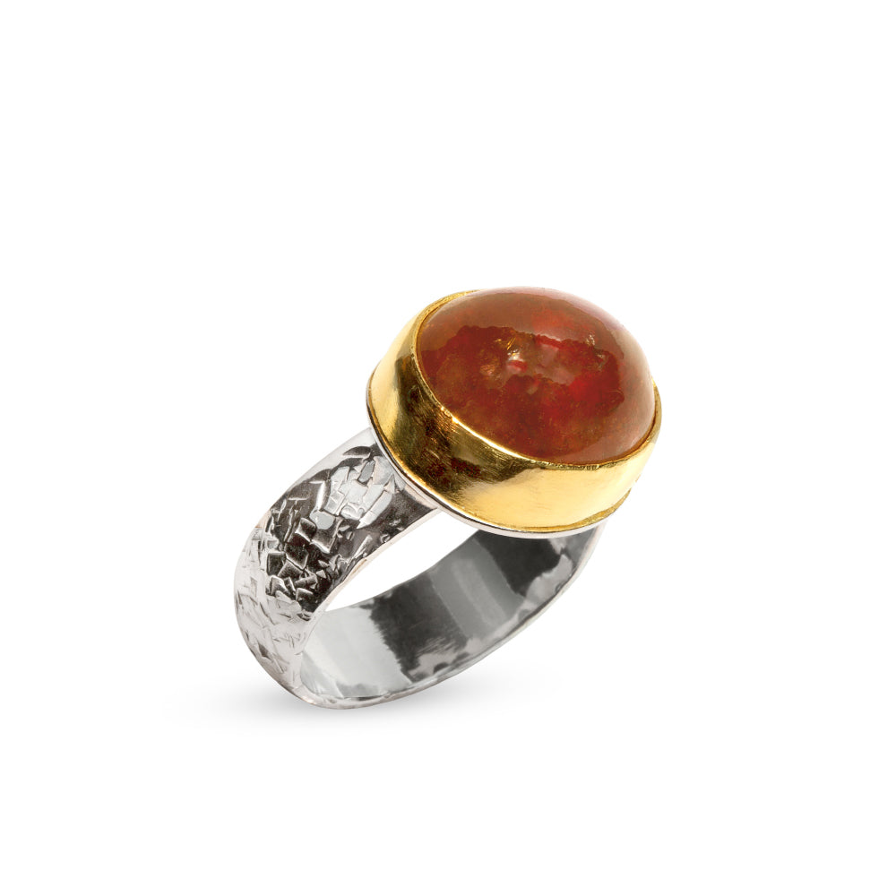 Nancy Troske Jewelry - Orange Garnet Ring