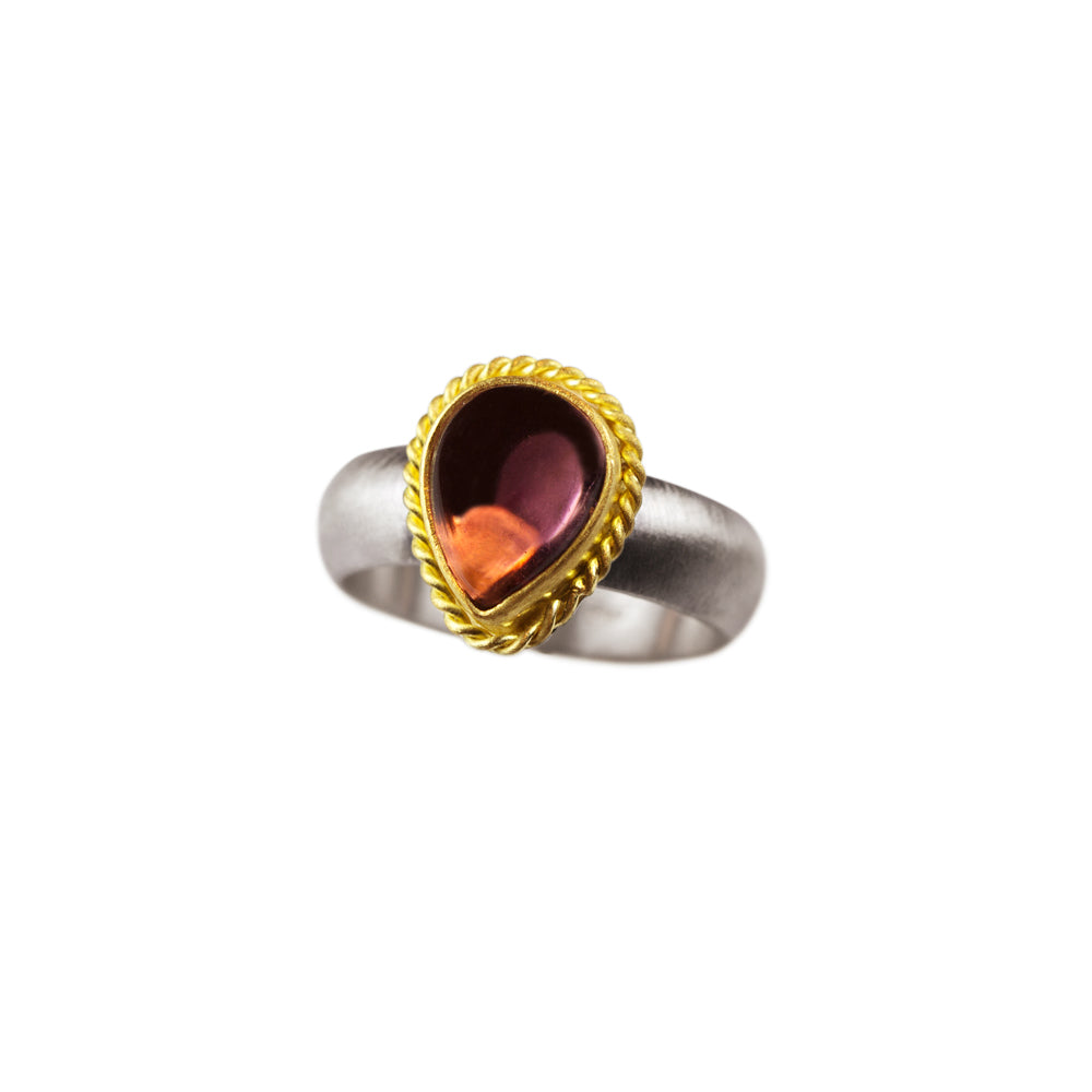 Nancy Troske Jewelry - Pink Tourmaline Ring in 22 karat gold