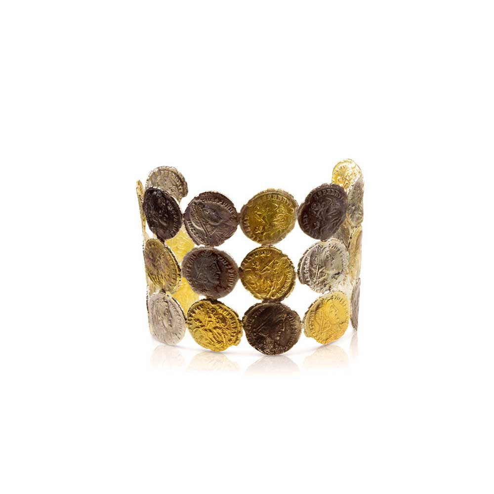 Roman Coin Cuff Bracelet - Nancy Troske Jewelry