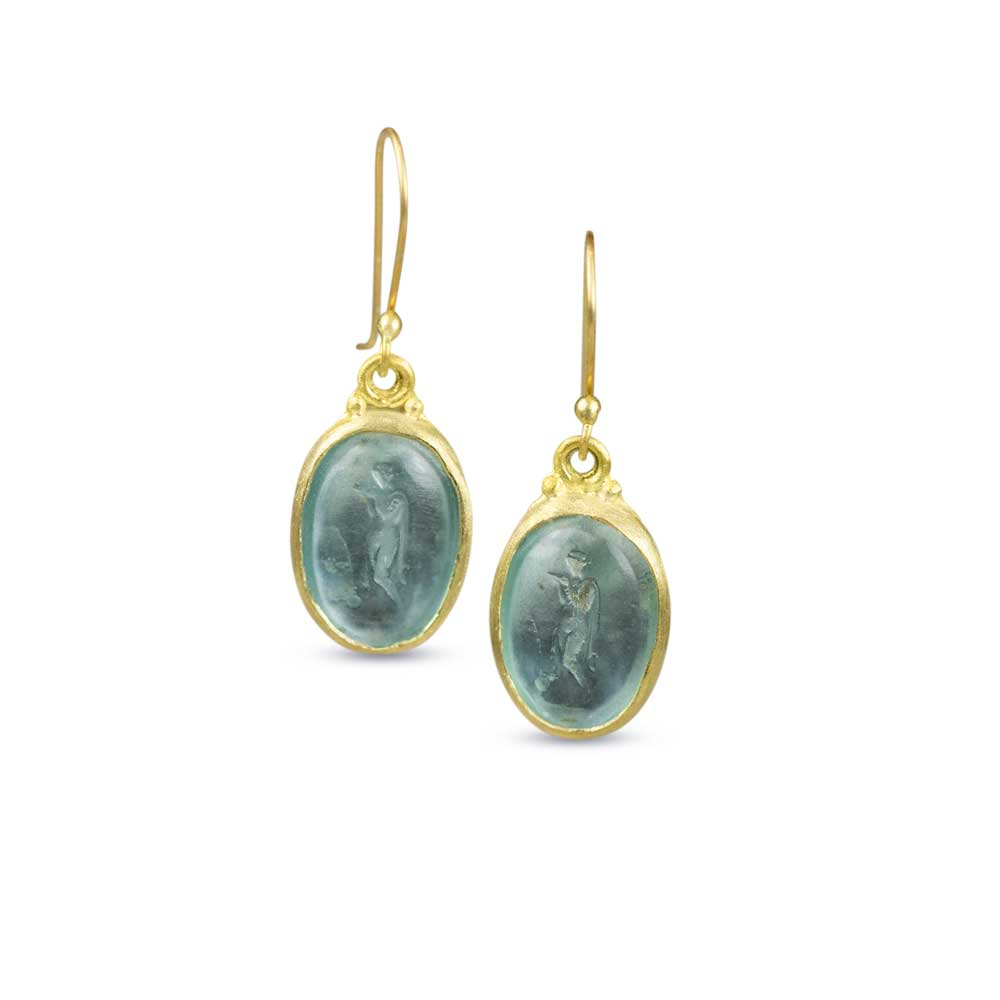 Greek Goddess Earrings - Nancy Troske Jewelry