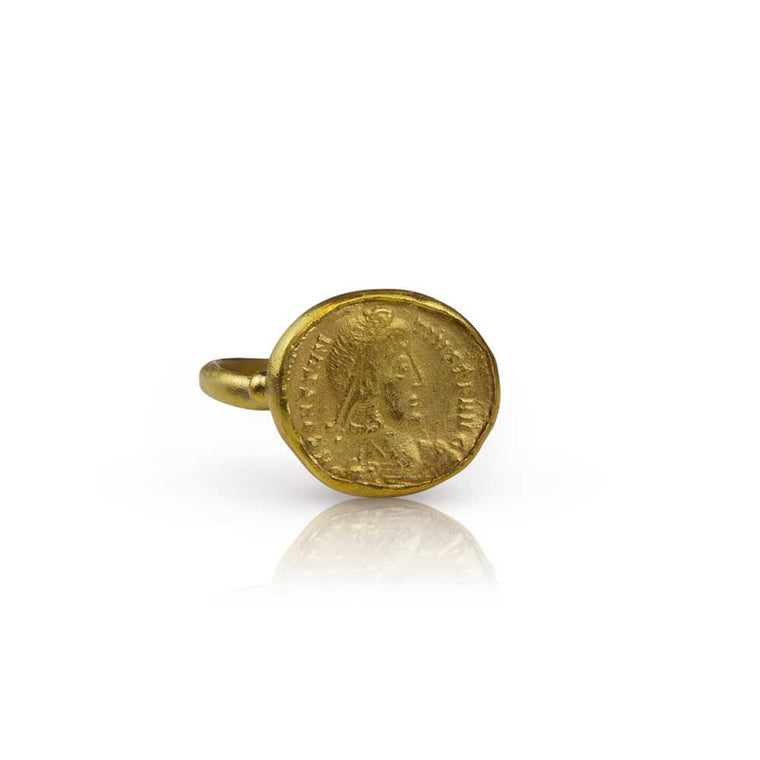 Roman Coin Replica Ring