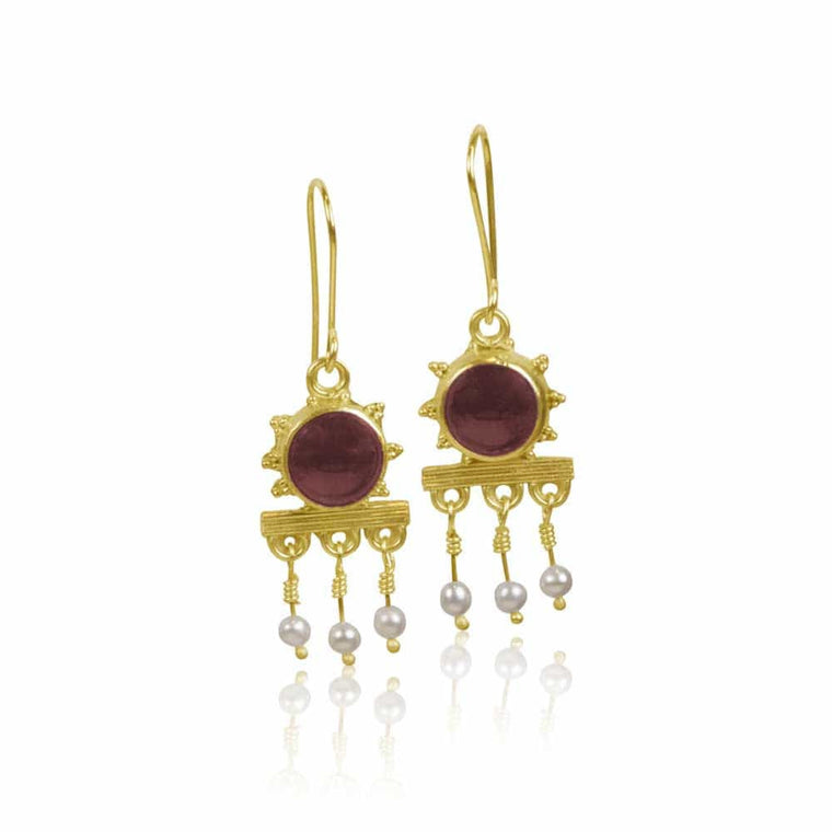 Etruscan Style Granulated Earrings - Nancy Troske Jewelry