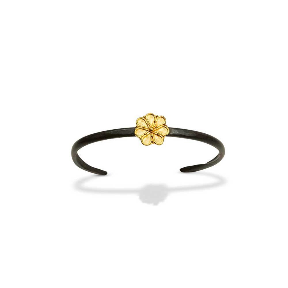Greek Rosette Cuff Bracelet - Nancy Troske Jewelry