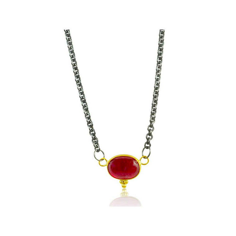 Smoke & Fire Ruby Necklace - Nancy Troske Jewelry