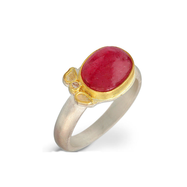 Nancy Troske Jewelry - Ruby and Diamond Ring