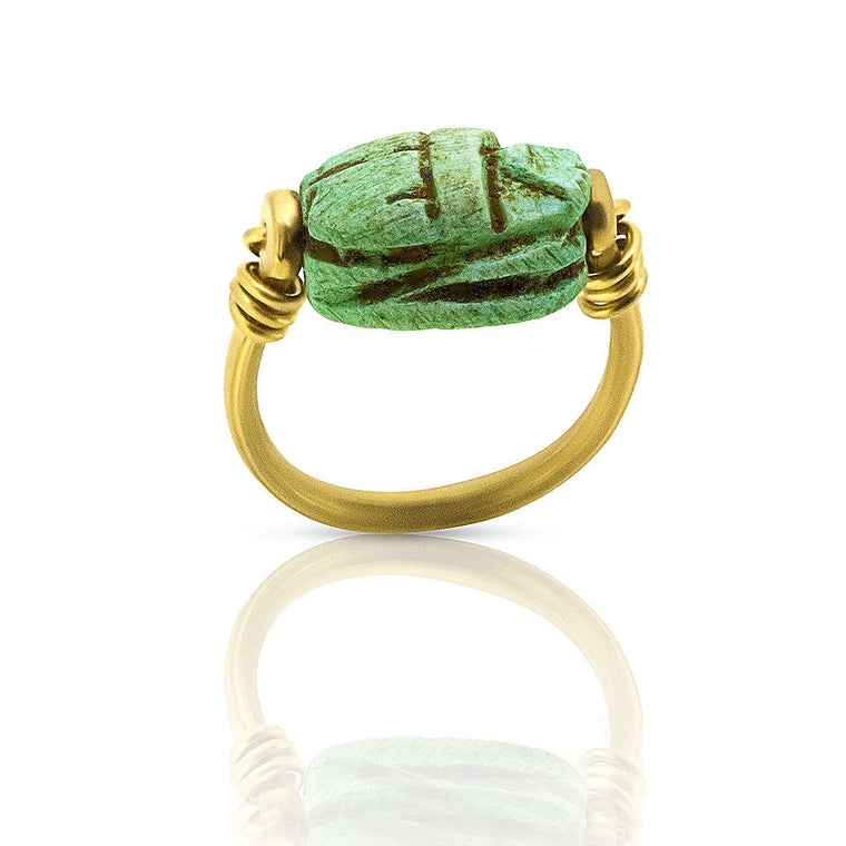 Egyptian Scarab Ring - Nancy Troske Jewelry