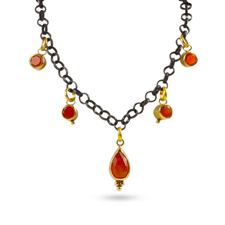 Nancy Troske Jewelry - Smoke and Fire Necklace
