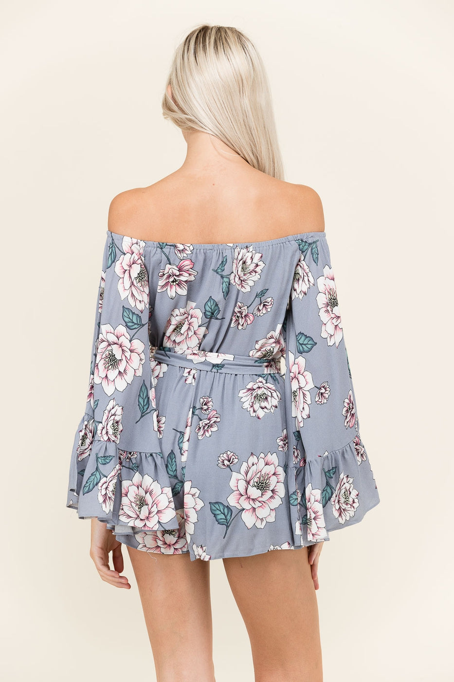 Off The Shoulder Floral Romper