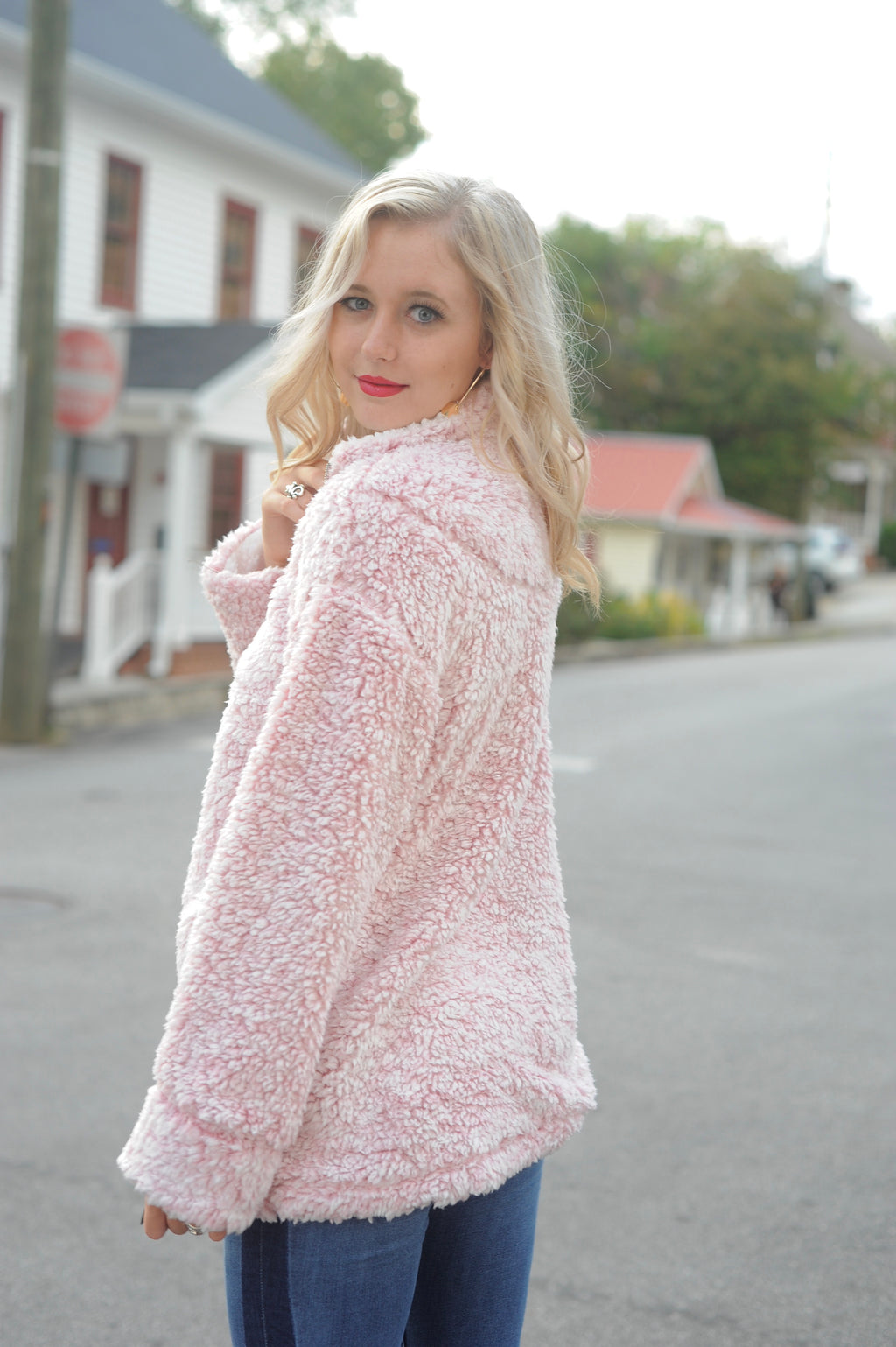 Pink Two Tone Pullover