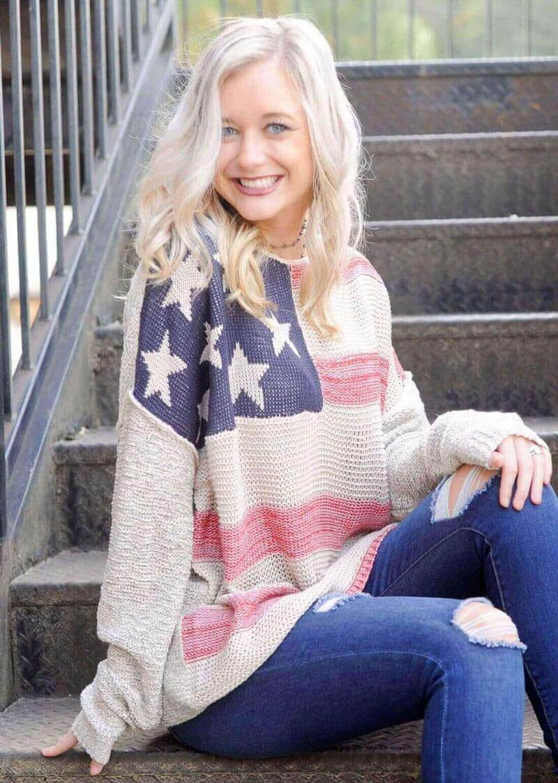 American Flag Knitted Sweater