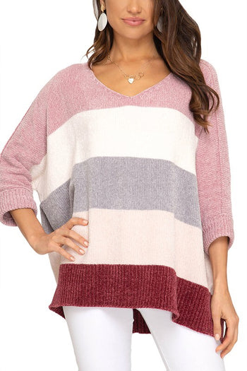 Rose Berry Chenille Sweater