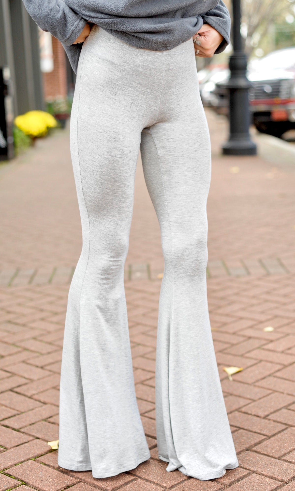 Grey Stretchy Yoga Pants
