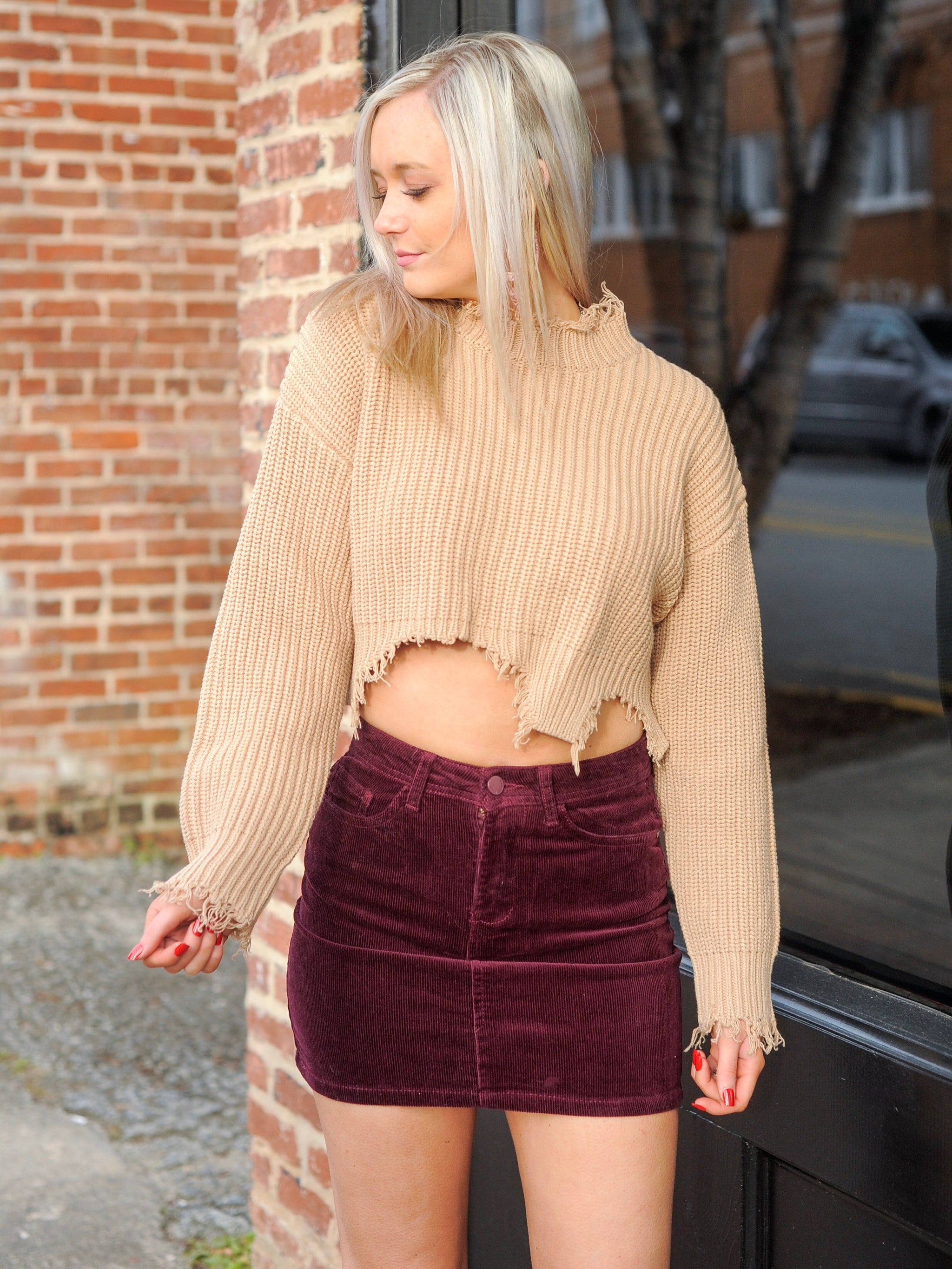 Mulberry Corduroy Skirt