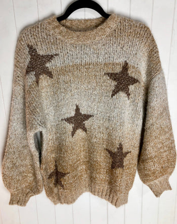 Ombré Star Sweater