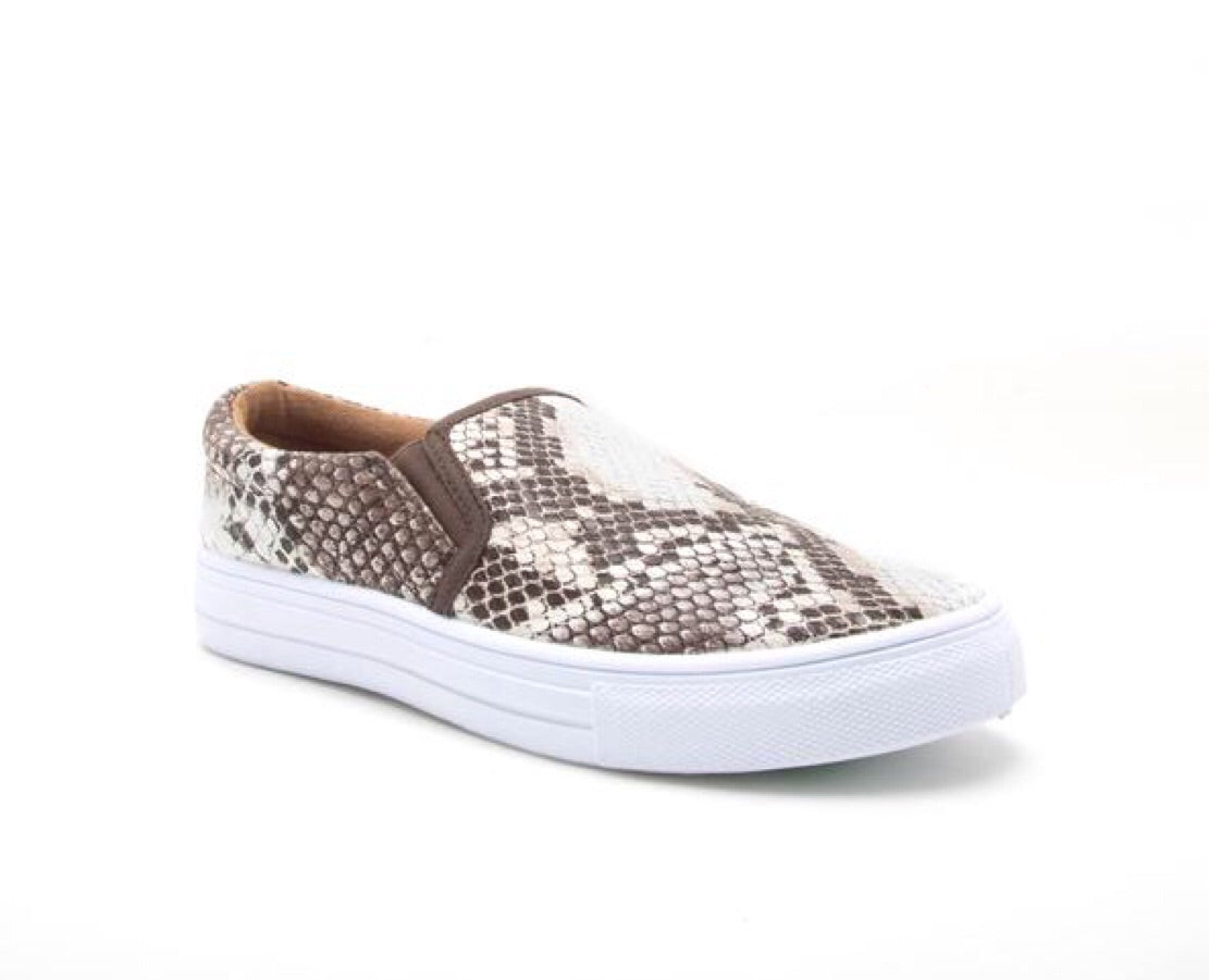 Snakeskin Step In Sneakers