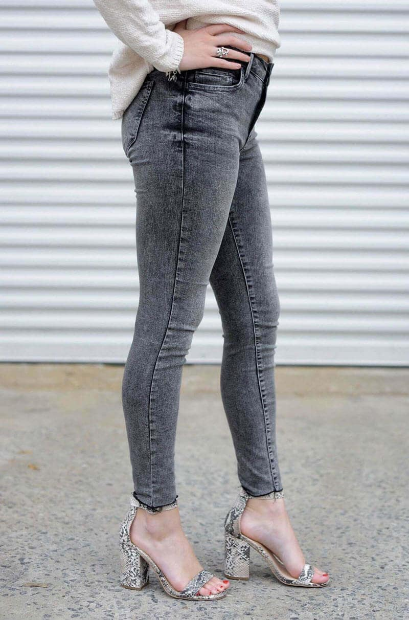 Grey Acid Wash Skinnies