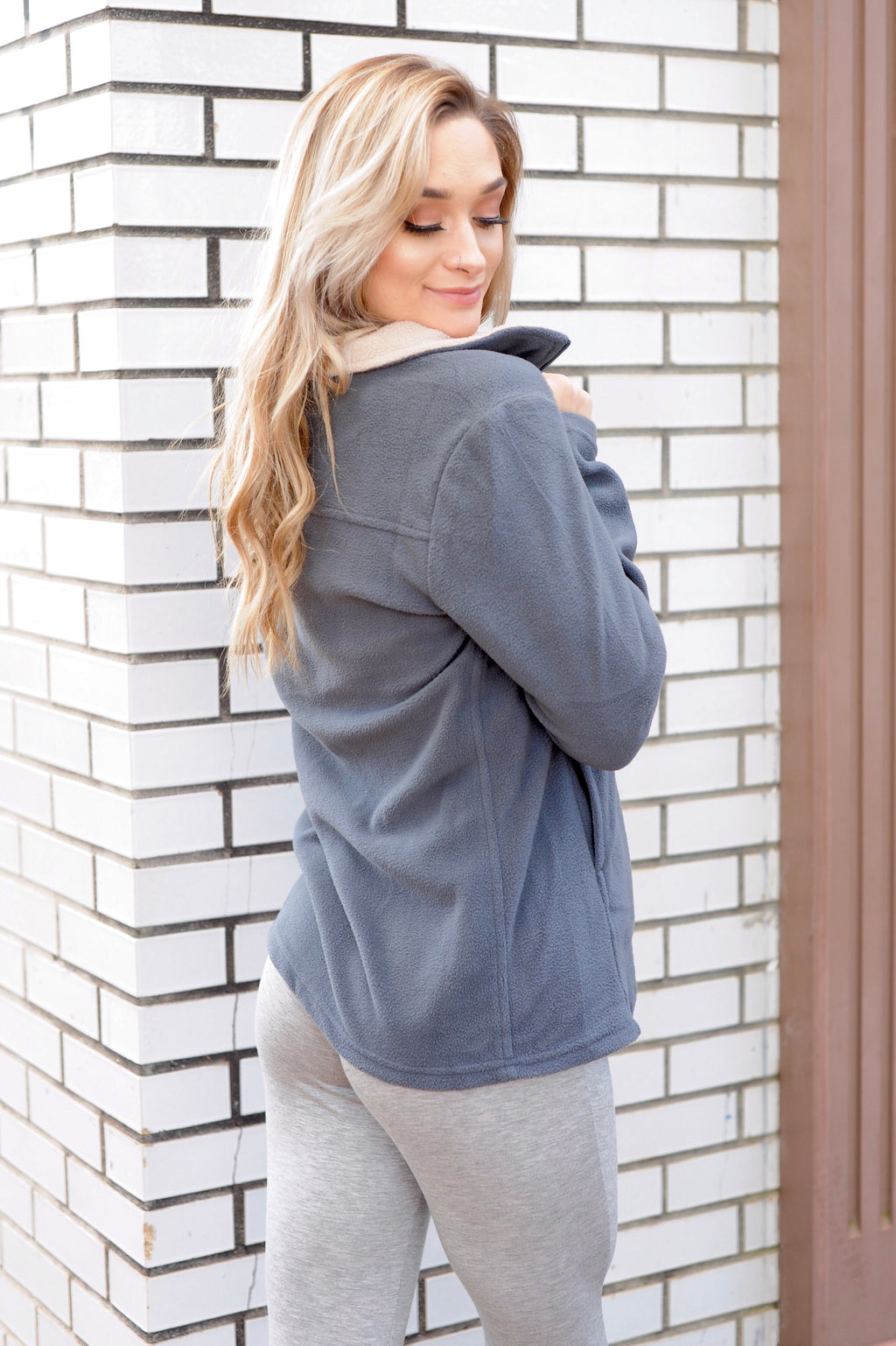 Charcoal Fleece Pullover
