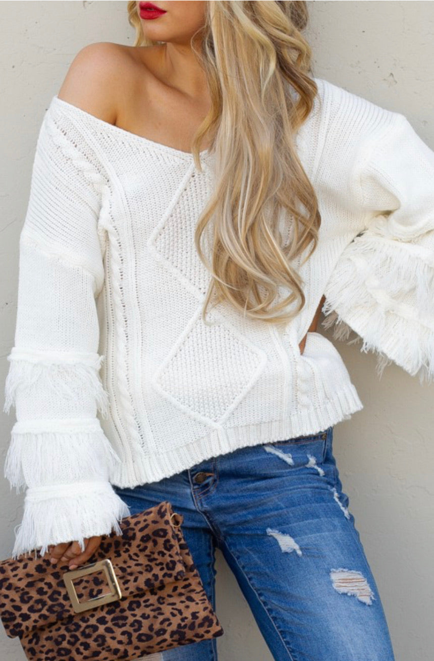 Fringe Detailed Sweater