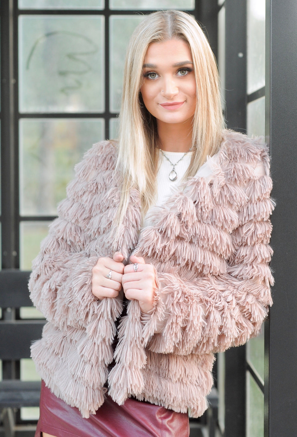 Mocha Shaggy Jacket