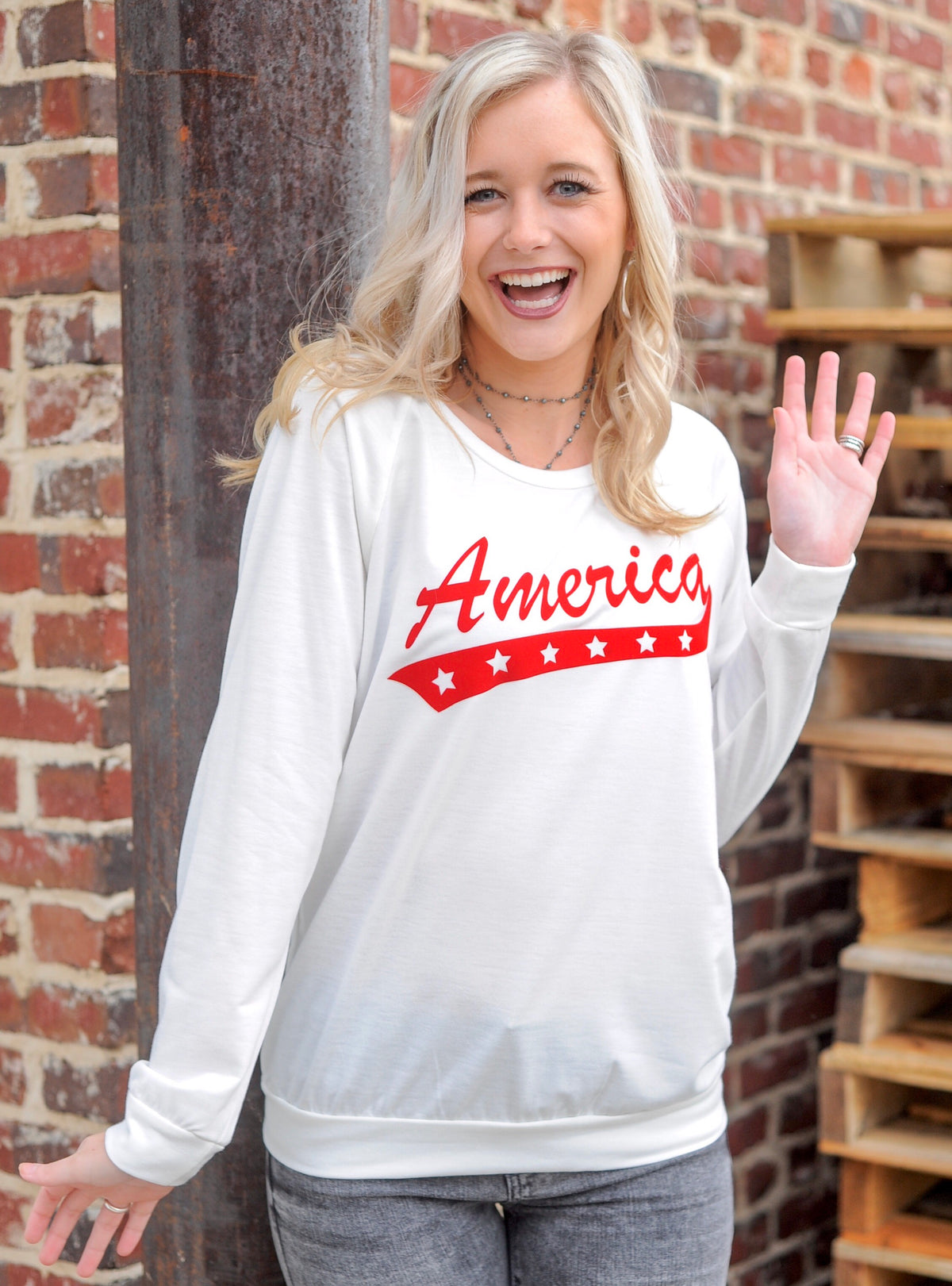 America Long Sleeve Tee