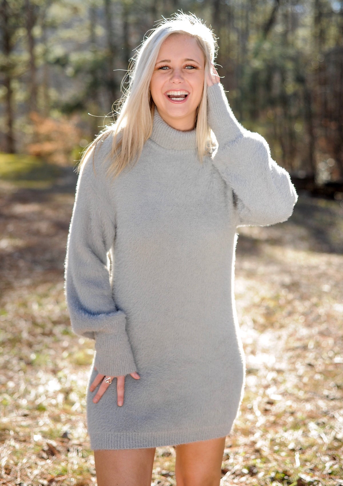 Mohair Turtle Neck Sweater Dress