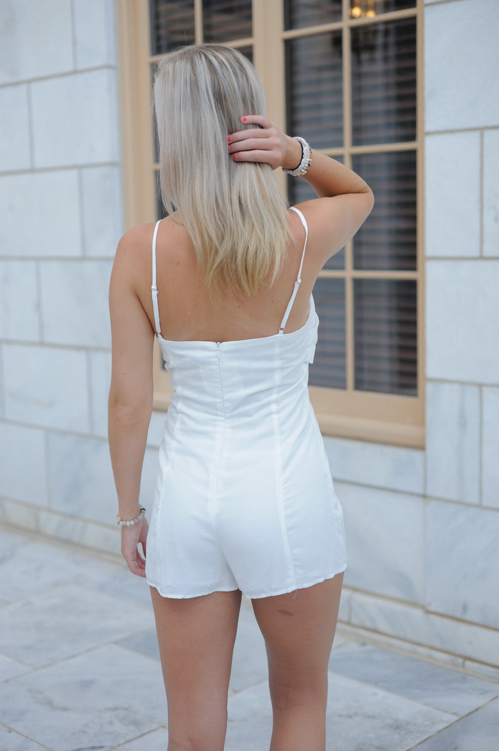 Front Bow Tie Romper