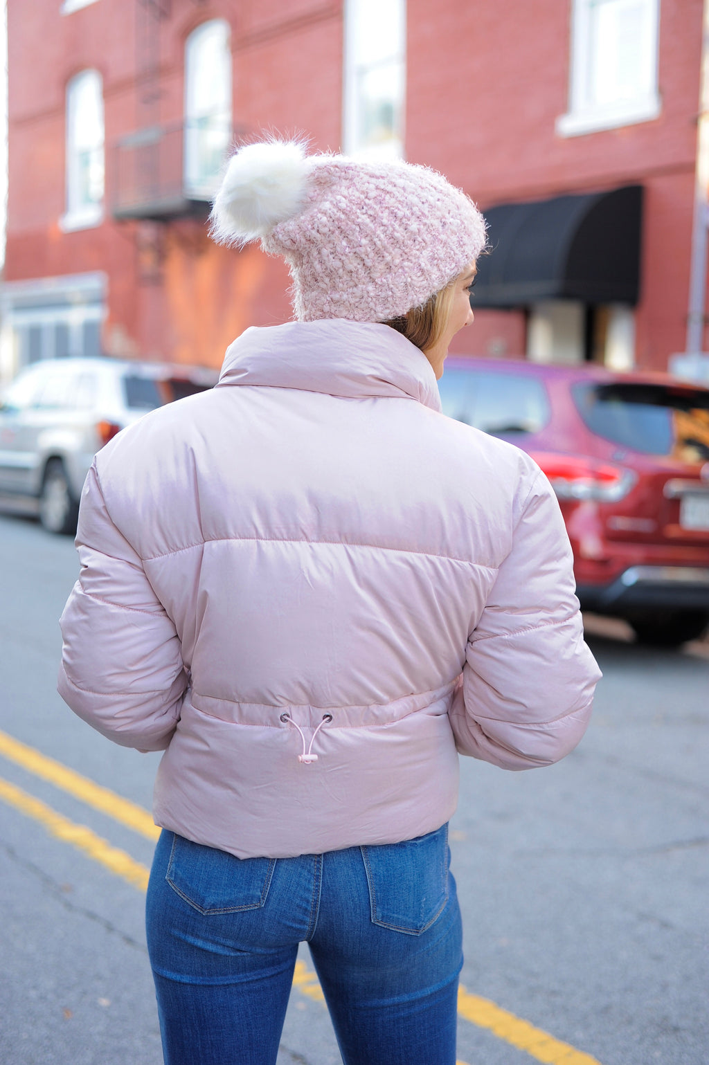 Dusty Pink Puffer Jacket