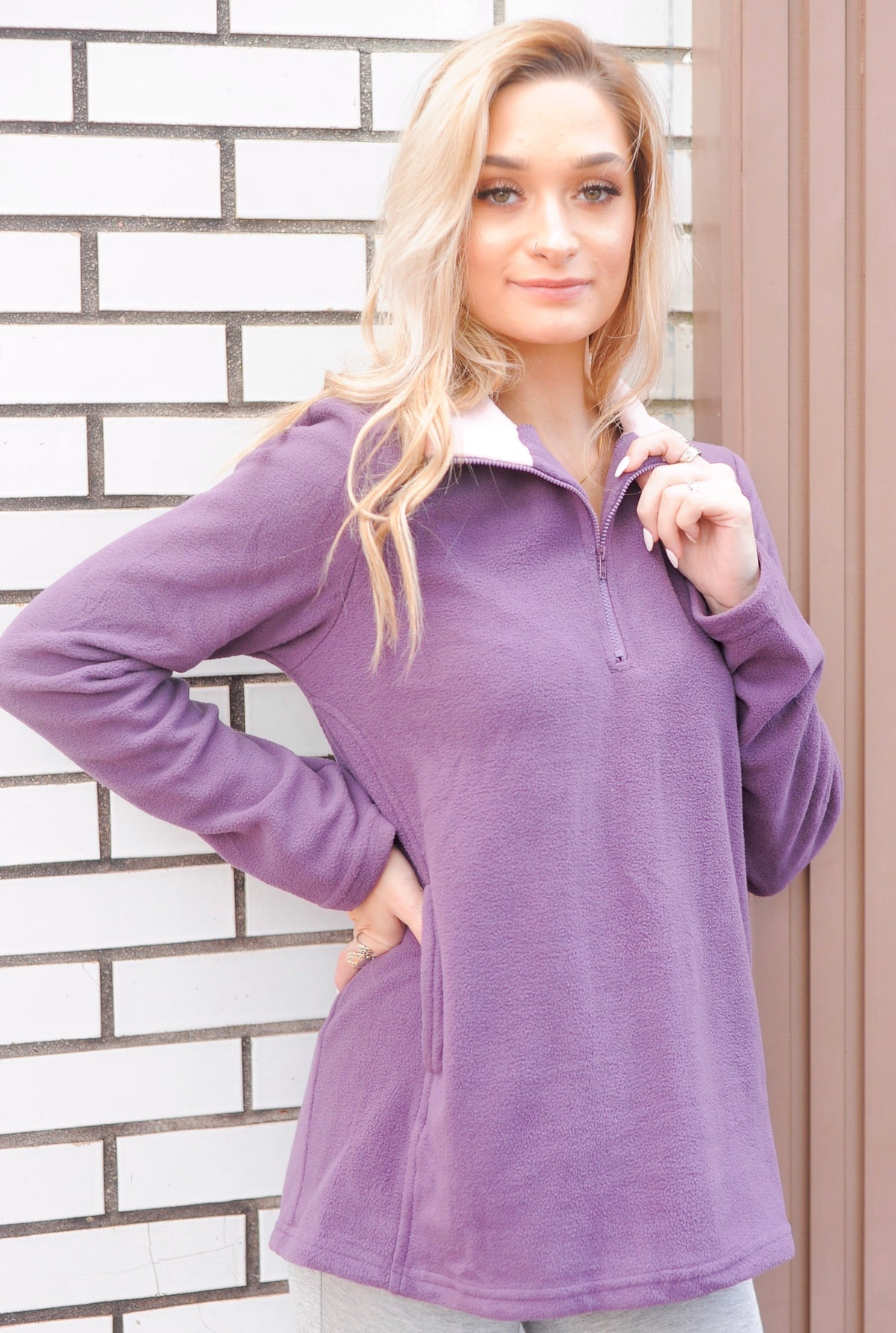 Purple Fleece Pullover