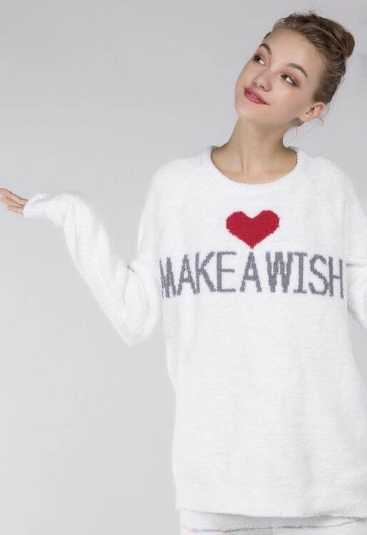 Make A Wish Fleece Pullover Sweater