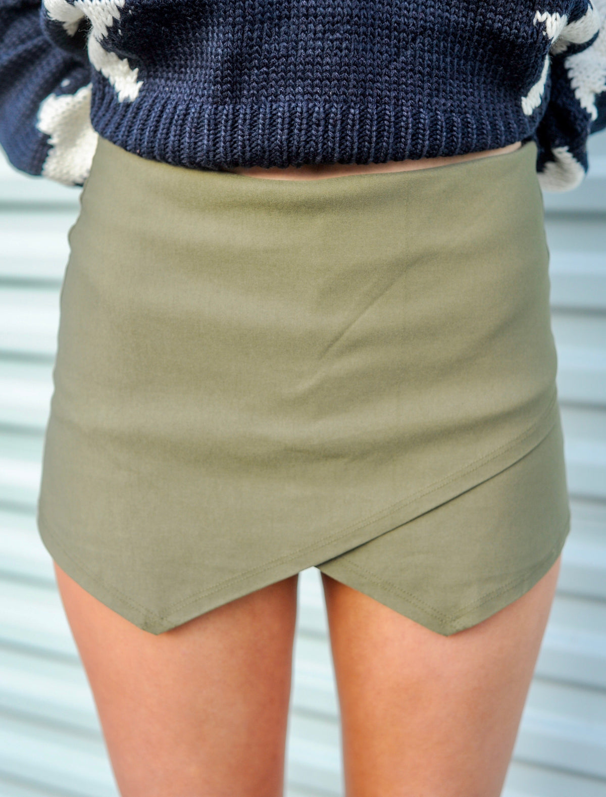Basic Envelope Skort- Olive