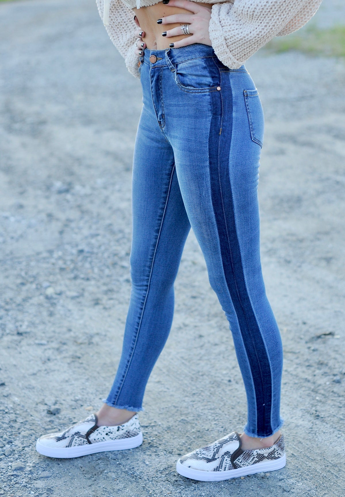 Shaded Side Seam Skinnies