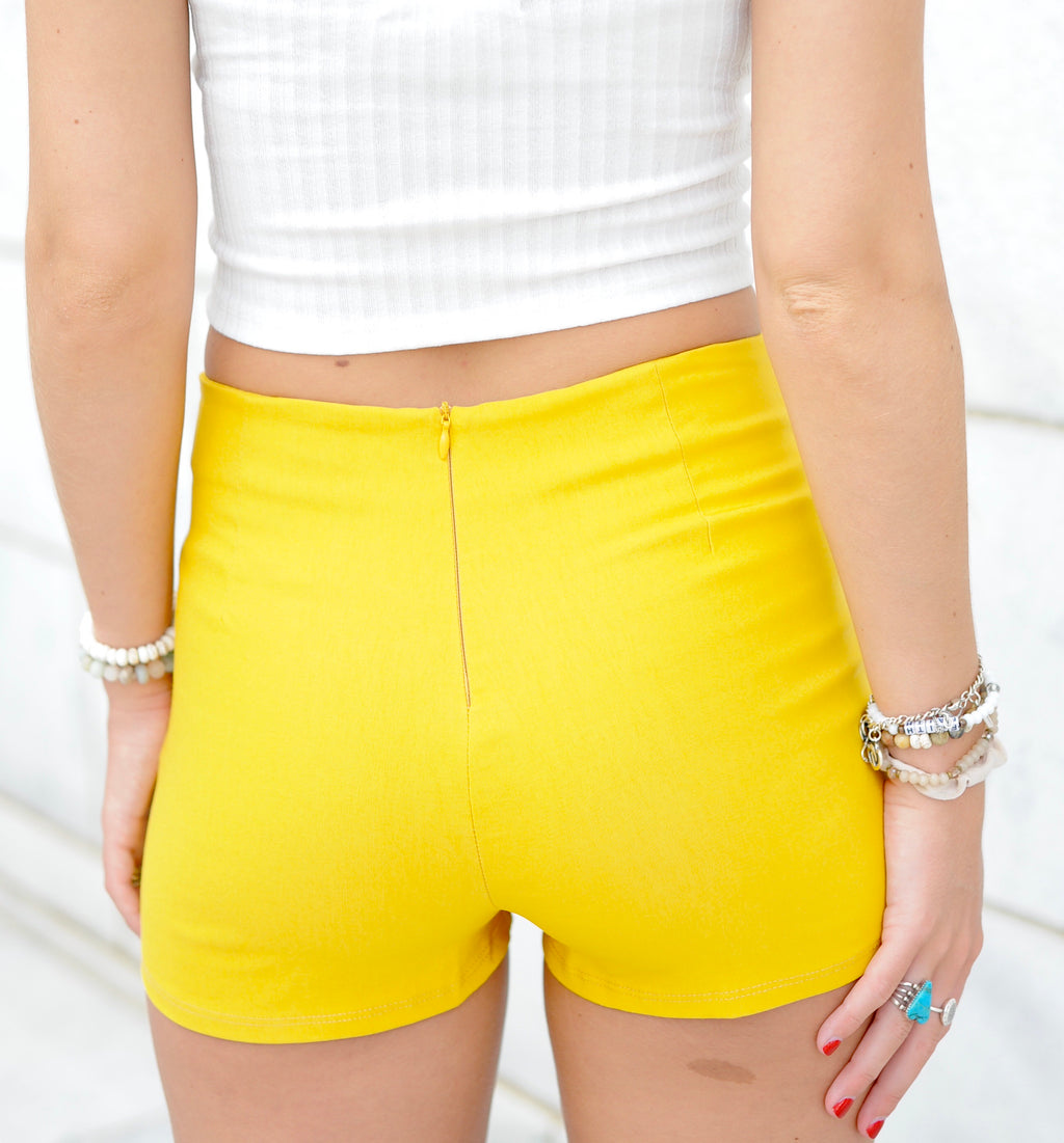 Basic Envelope Skort- Yellow