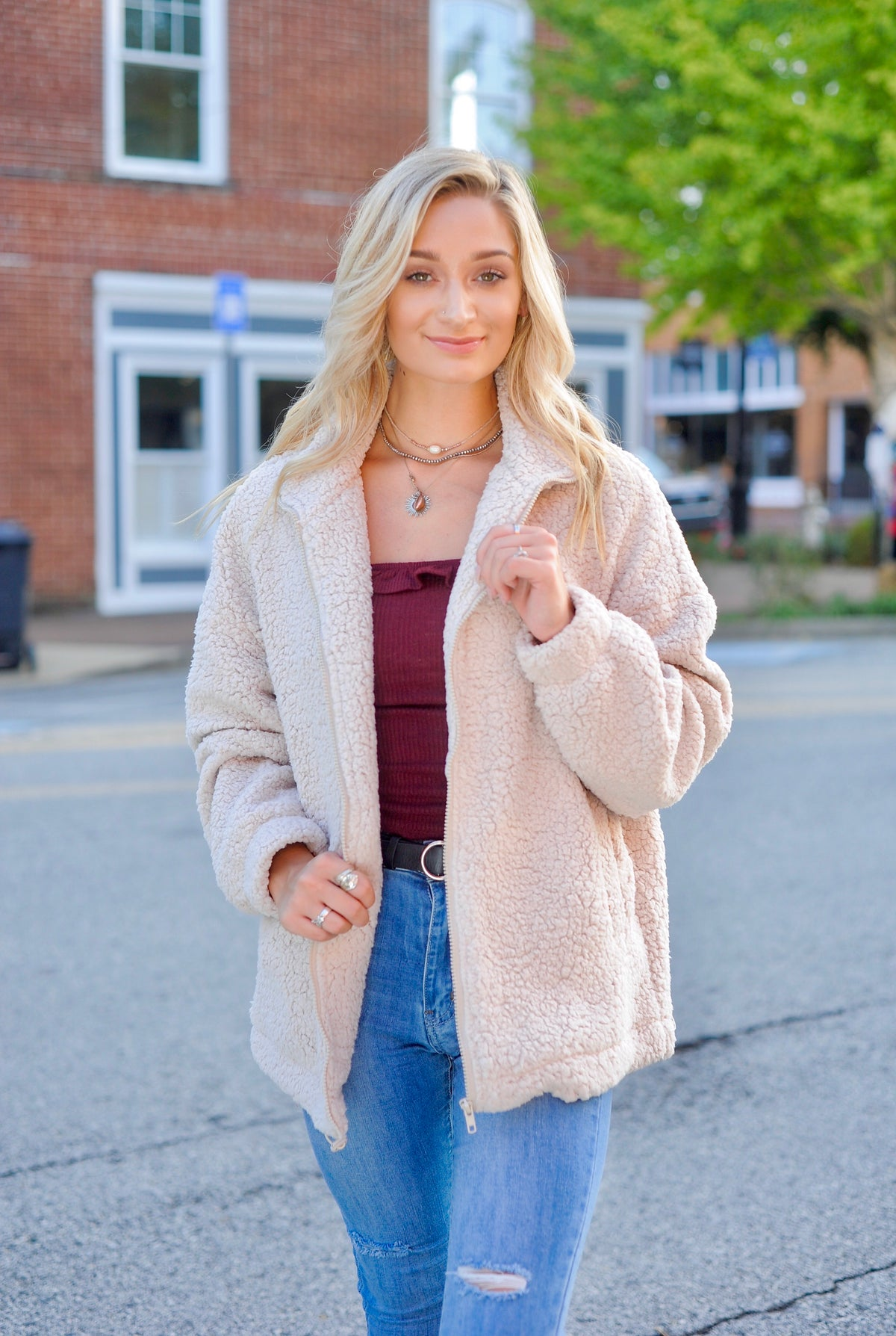 Oatmeal Teddy Coat