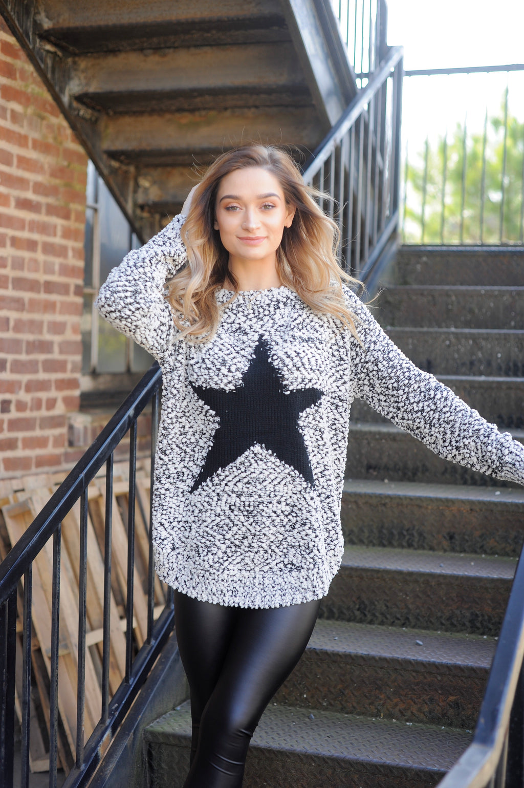 B&W Star Sweater