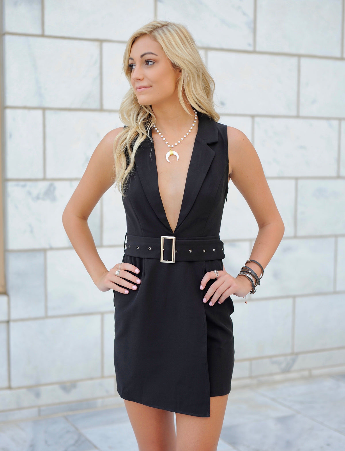 Belted Mini Dress