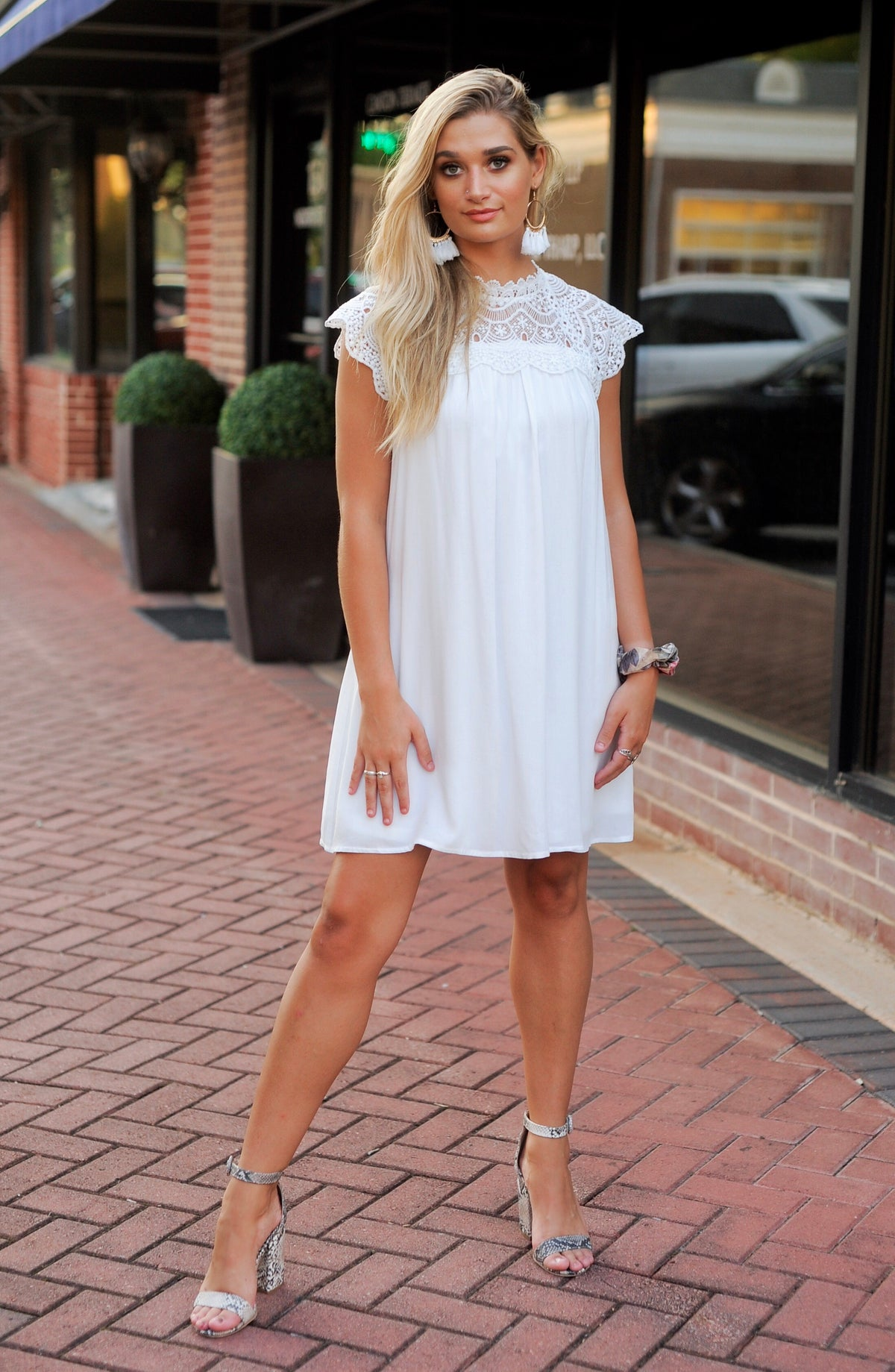 Crochet Lace White Flow Dress