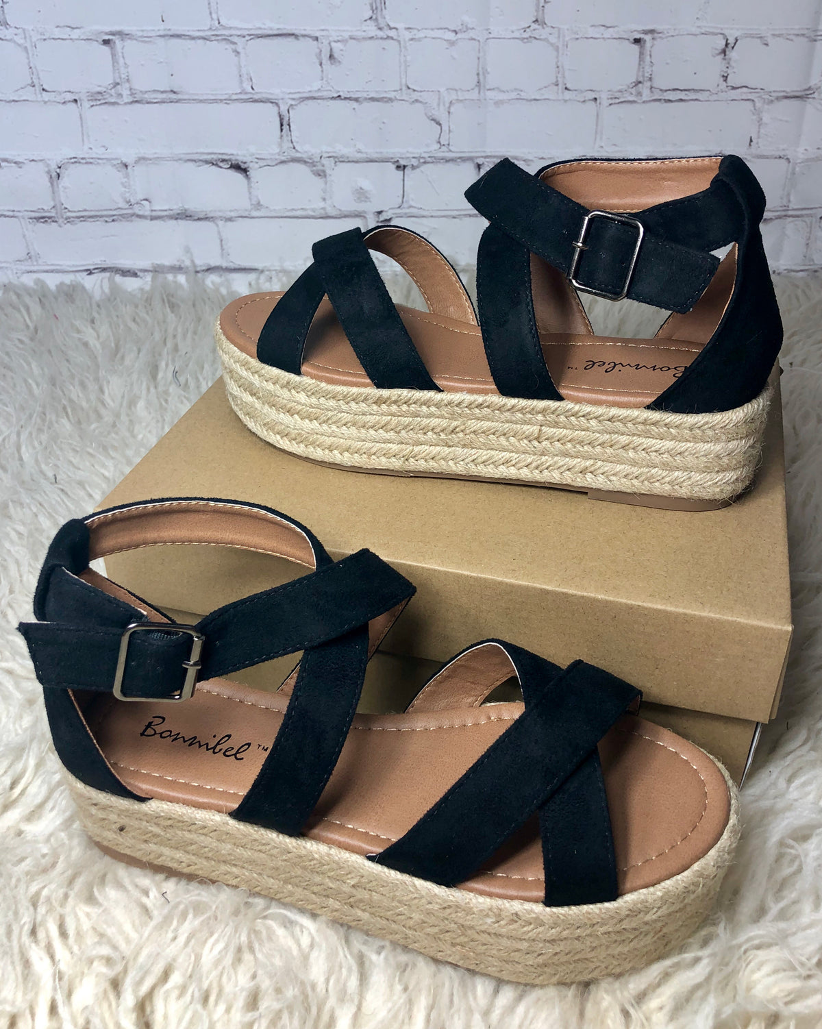 Black Criss Cross Espadrilles