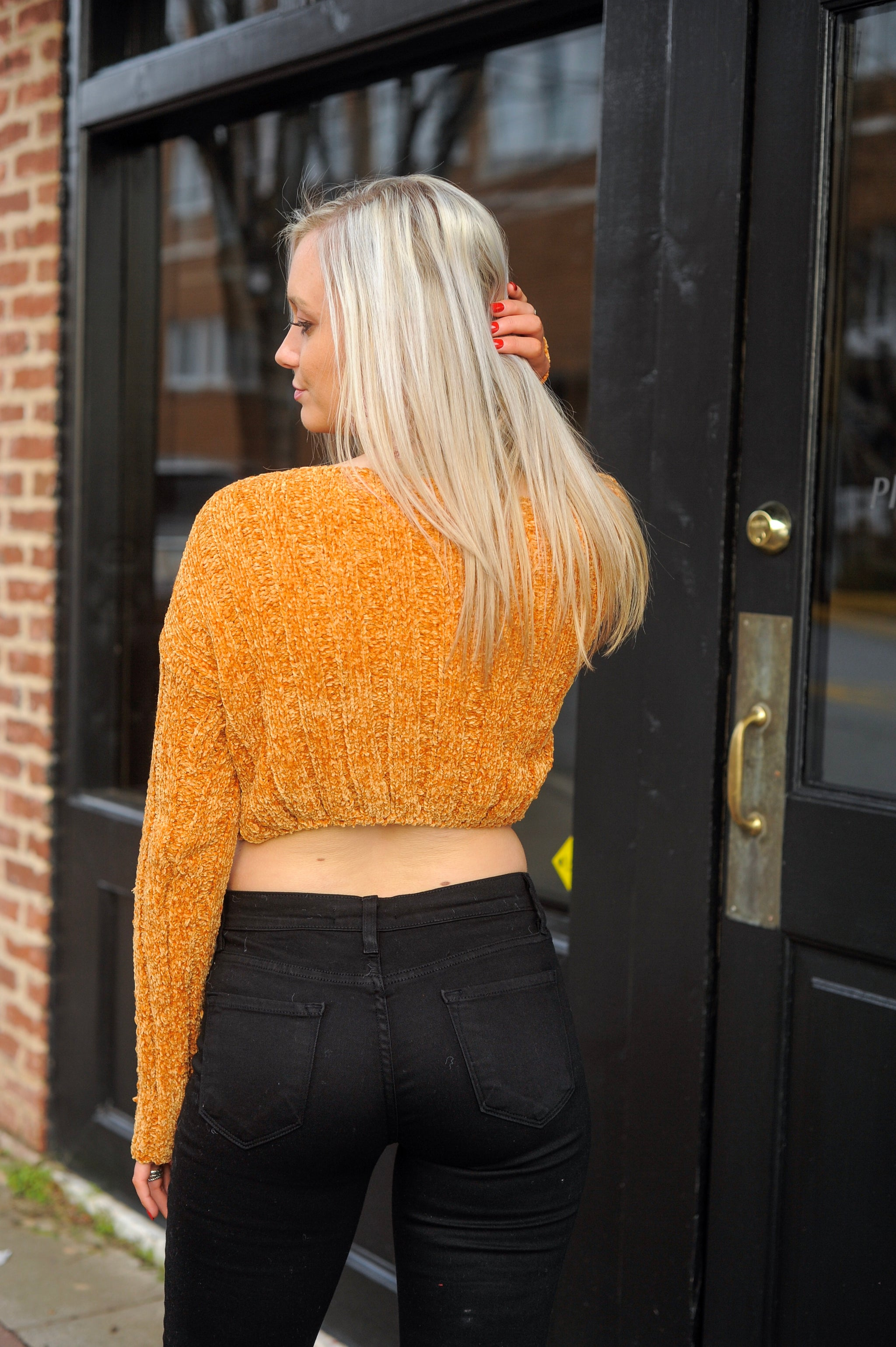 Chenille Crop Top