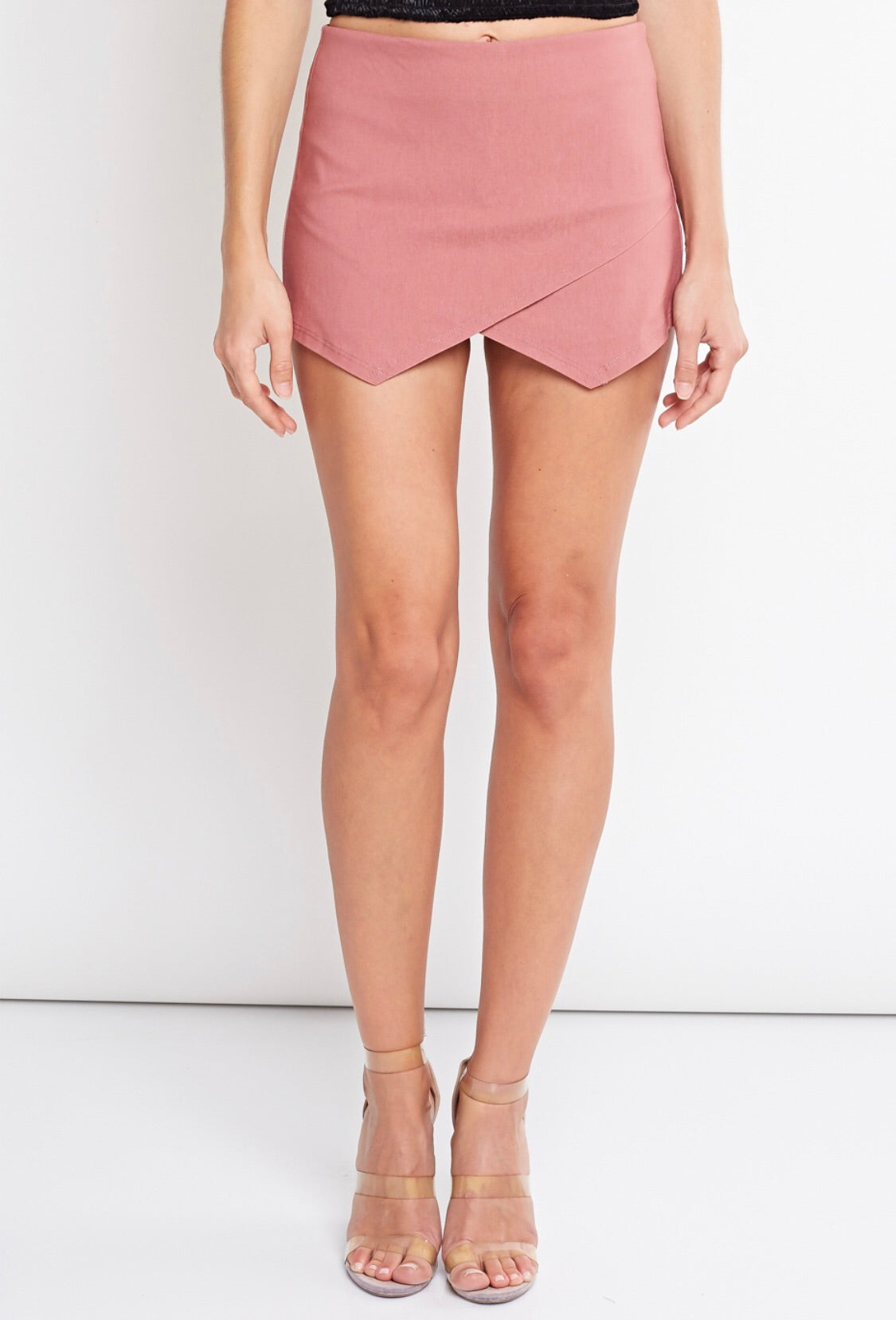 Basic Envelope Skort- Mauve