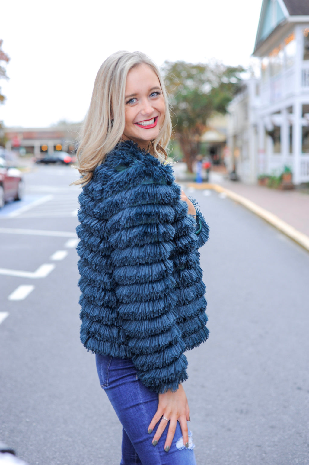 Peacock Shaggy Jacket