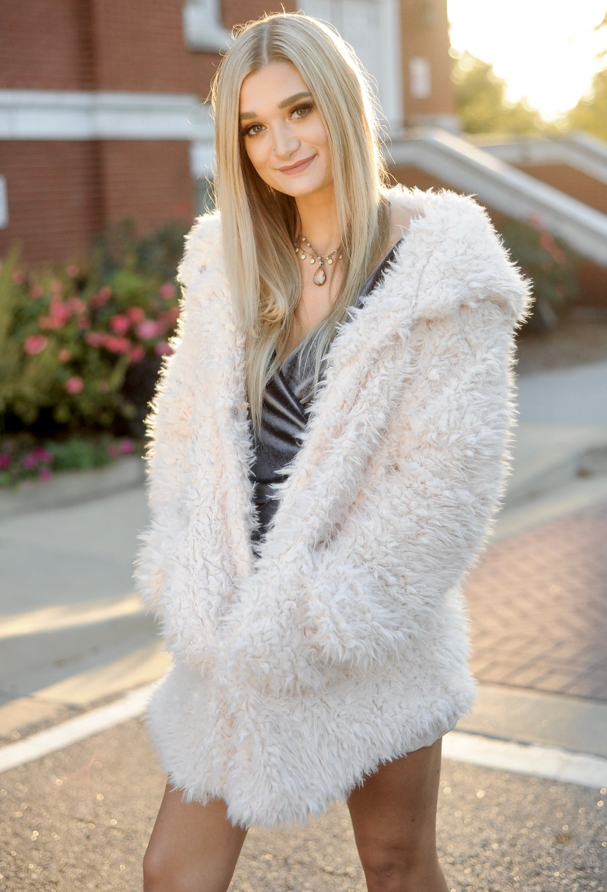 Alaina Furry Jacket | Faux Fur Coat