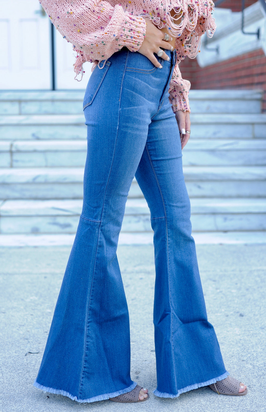 Avery Bell Bottom Jeans