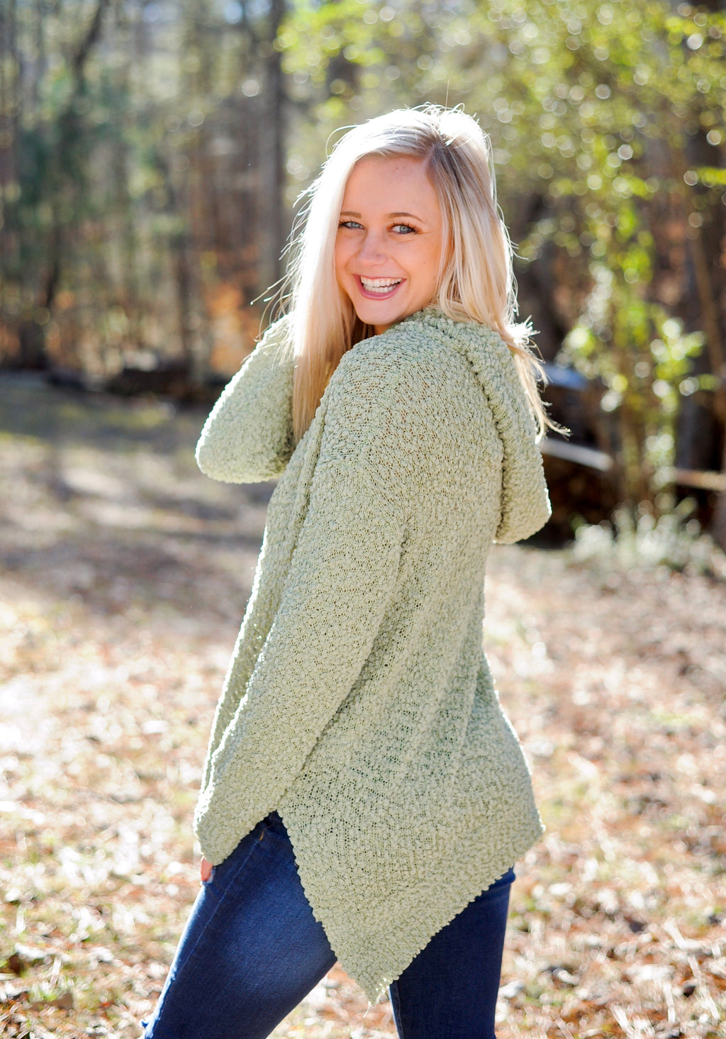 Popcorn Pullover Sweater - Sage