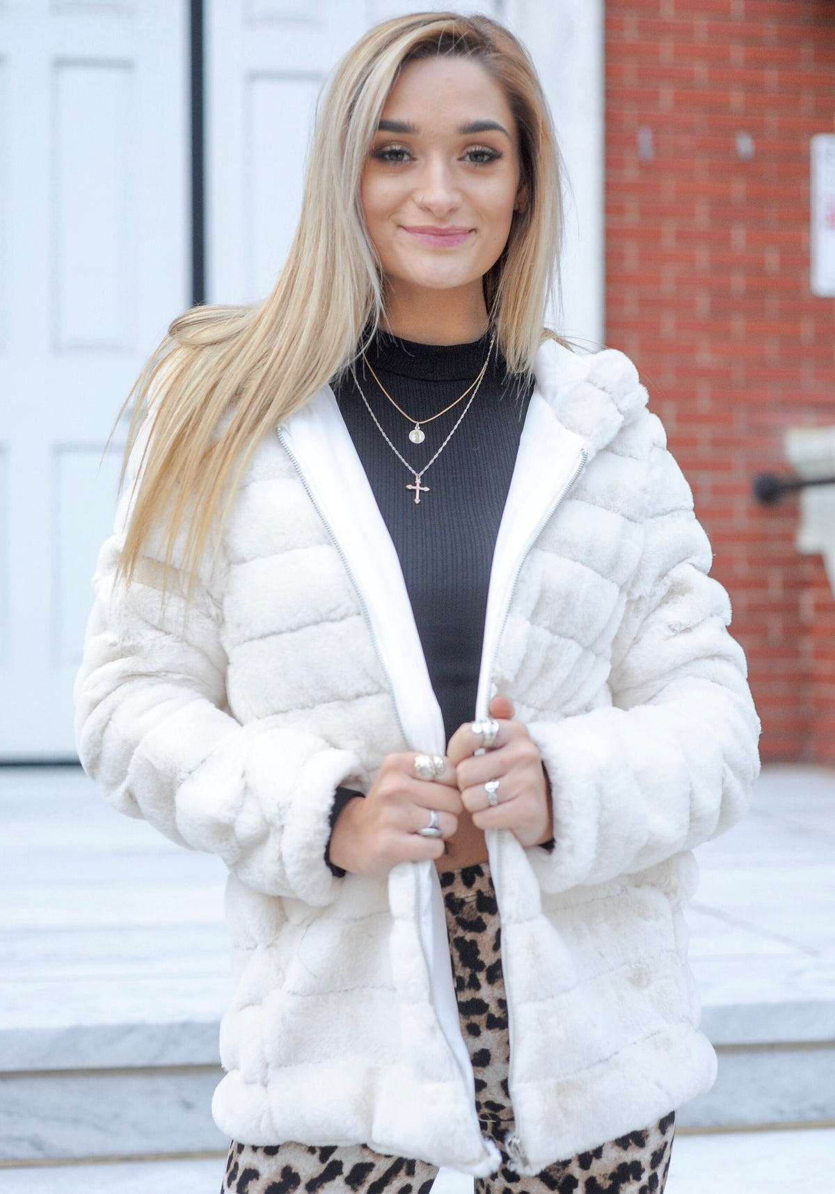 White Layered Jacket