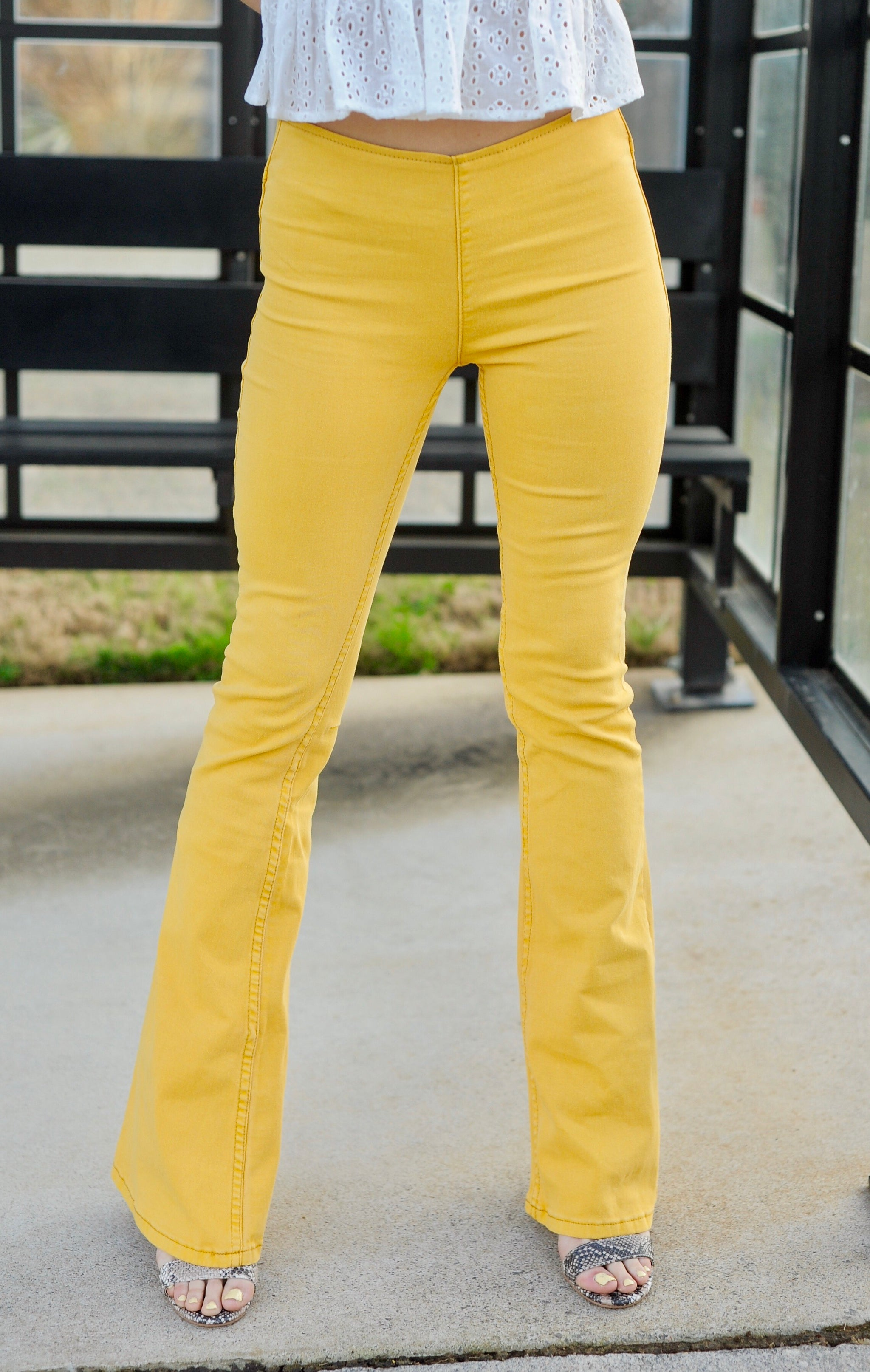 Yellow Flare Jeans