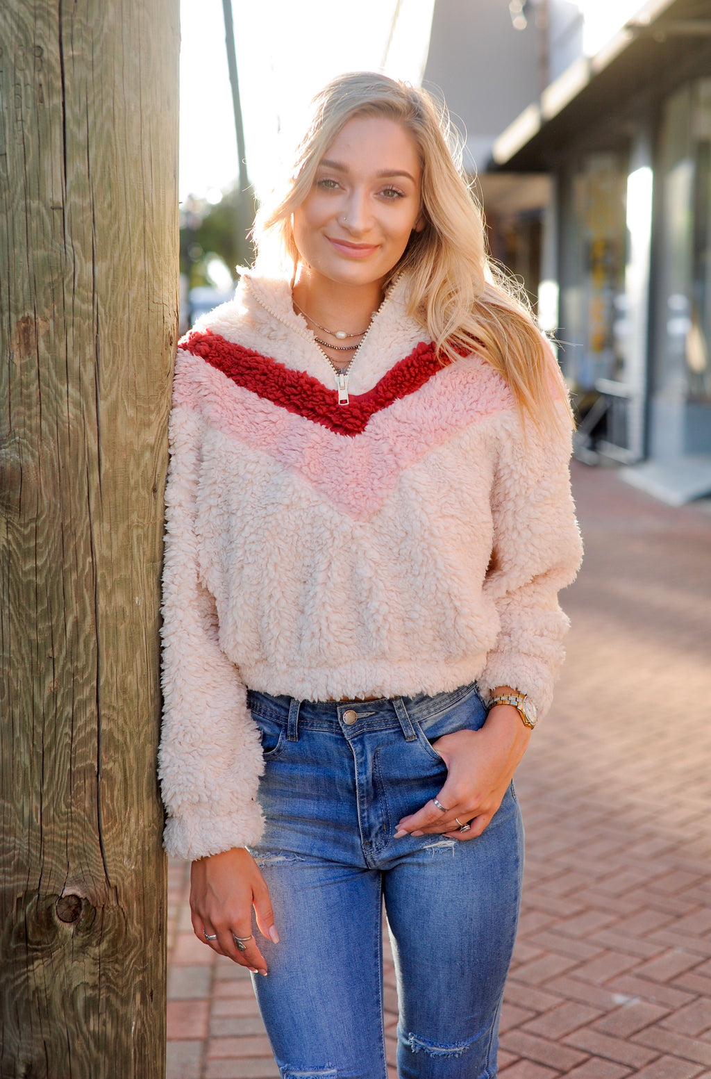 Rose Cropped Pullover