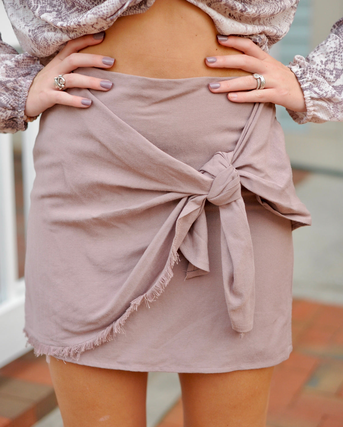 Taupe Wrap Skirt