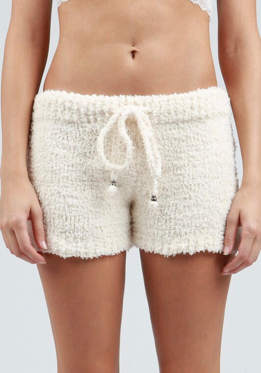 Berber Fleece Beige Shorts